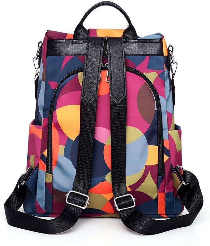 Women/'s Anti-Theft Backpack Oxford Cloth Waterproof Female Travel Shoulder  N10