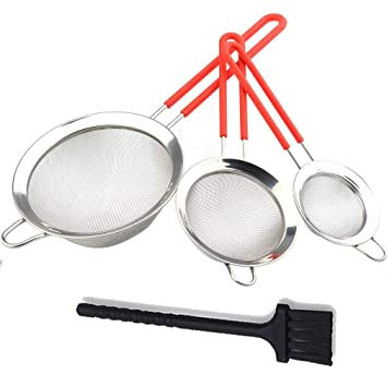 Amazoncom Gudui Fine Mesh Stainless Steel Strainer Set Of 3 Sieve - 3-kitchen-gadgets-that-makes-your-life-easier
