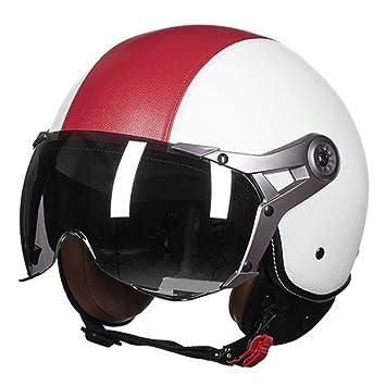 WANG-LONG Casco ABS Hombres Y Mujeres De Moda Al Aire Libre Motocicleta Ligera Moto