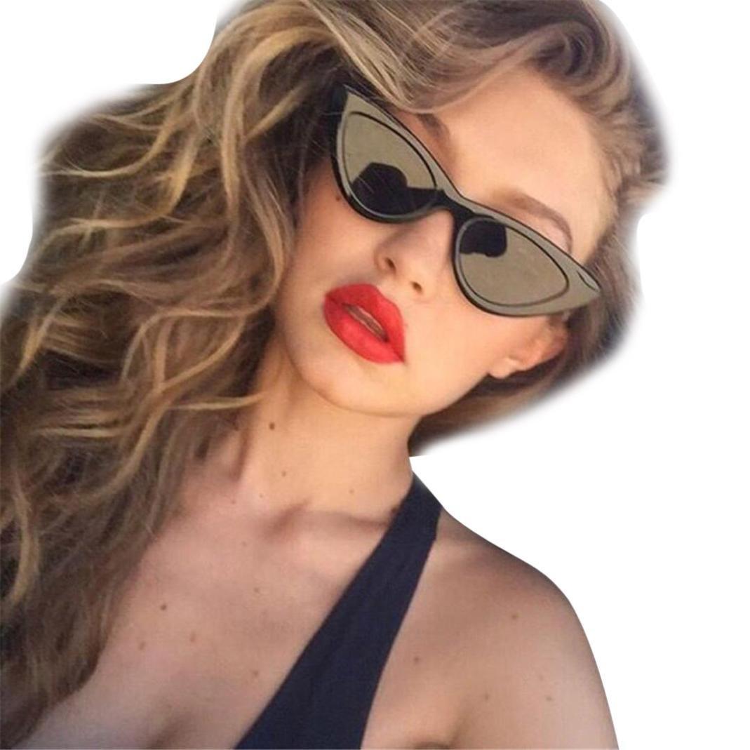 Sunglasses for Women, Iuhan Women FashionCat Eye Shades Sunglasses Integrated UV Candy Colored Glasses (J)