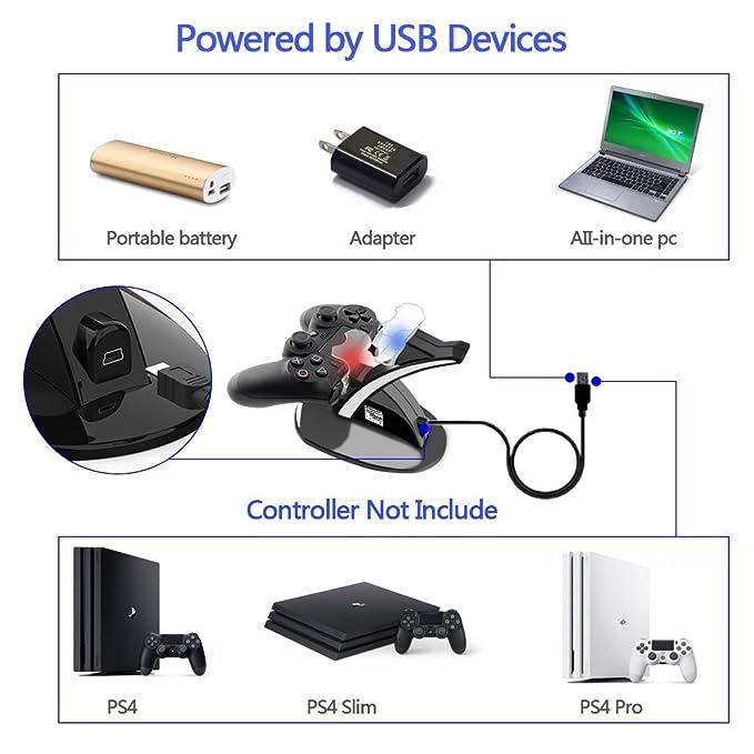 Amazon.com: Driver De PS4 Cargador, ponkor adaptador de ...