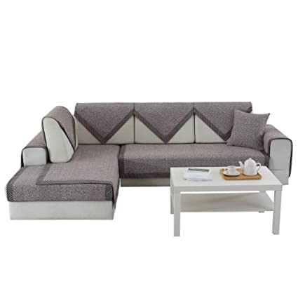 Amazon Com Used Sofas Couches Living Room Furniture >> Amazon Com Cotton And Linen Quilted Sectional Armrest