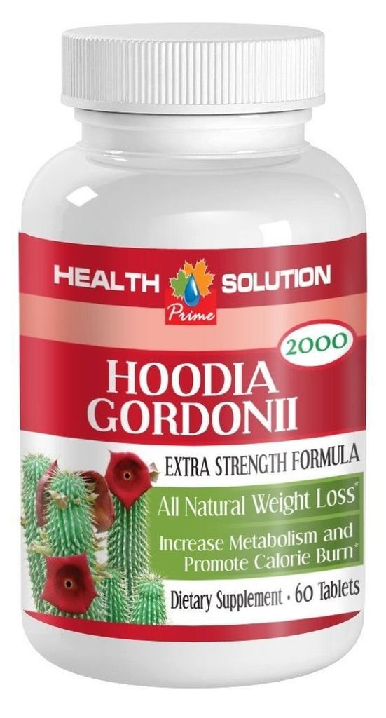 3 Bottle Pure Hoodia Gordonii Cactus 2000mg Lose Weight for Women