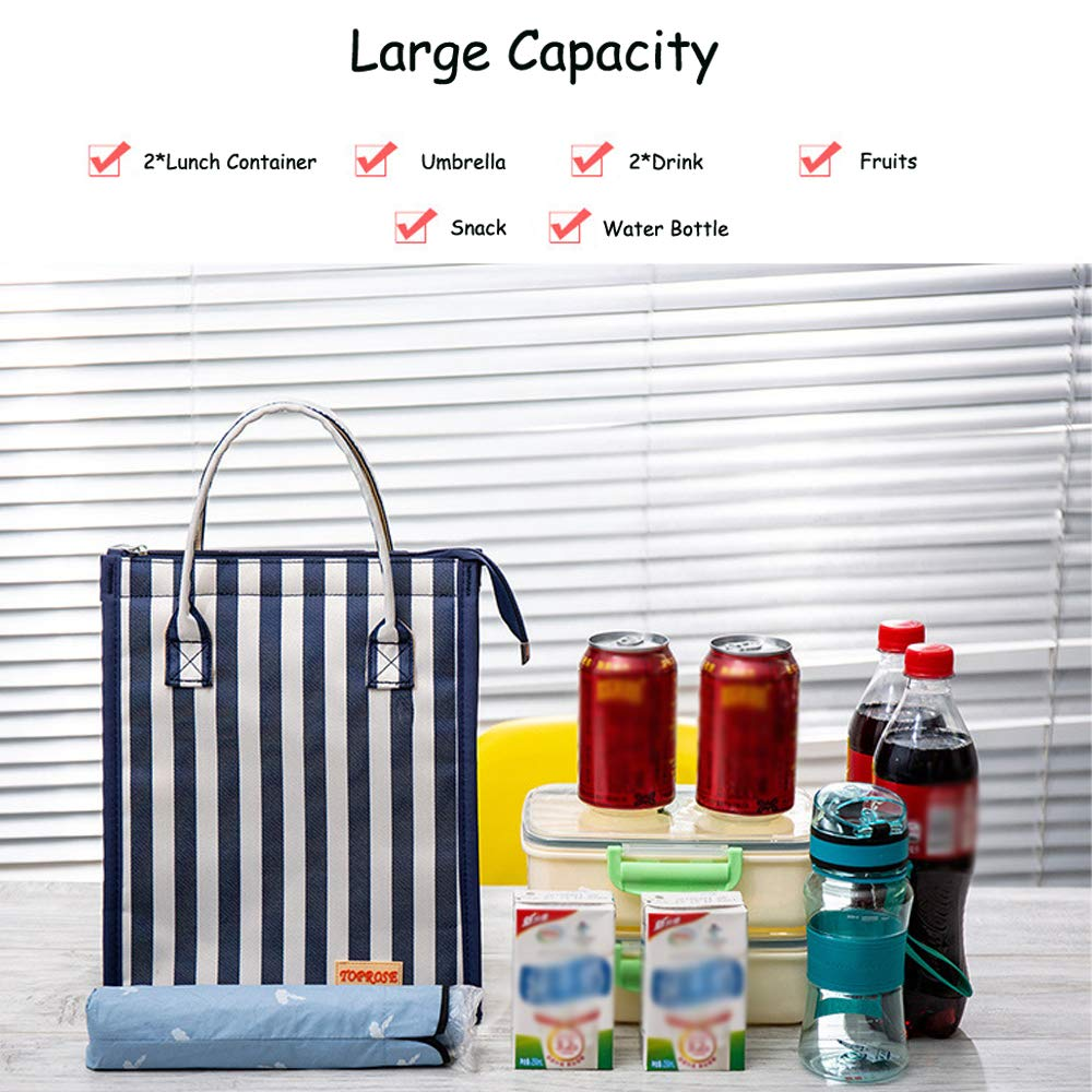 Borsa frigo da Picnic con Chiusura a Cerniera Oneyong Grande Borsa Termica per Il Pranzo per Esterni Adulti Ufficio Viaggi per Donne Uomini