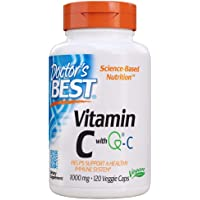 Doctor's Best Vitamin C with Quali-C 1000 mg, Non-GMO, Vegan, Gluten Free, Soy Free, Sourced from Scotland, 120 Veggie…