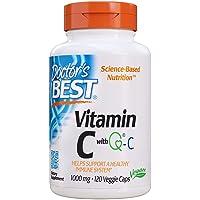 Doctor's Best Vitamin C featuring Quali-C, 1000mg, Veggie Caps, 120ct
