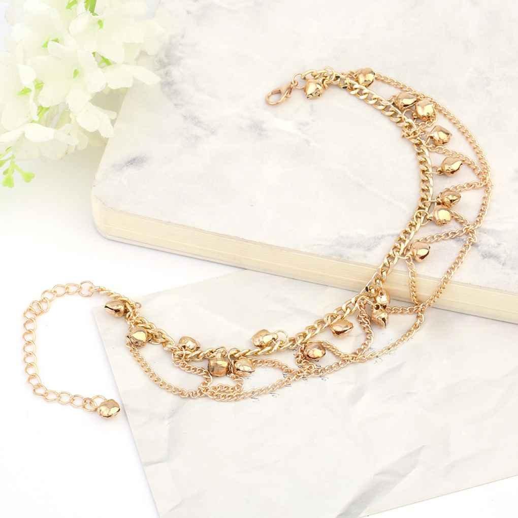 nghmkj Or Tassel Cha/îne de Cheville Bracelet /él/égant Bracelets de Cheville de Femmes de Bell cha/îne Fille Plage Bracelets Bijoux Pied