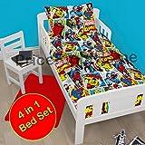 Marvel Comics Justice 4 in 1 Junior/Toddler Bedding Bundle Set (Duvet + Pillow + Covers)
