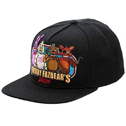 Amazon.com  BIOWORLD Black Freddy Fazbear s Pizza Snapback Baseball ... 00b2056086c