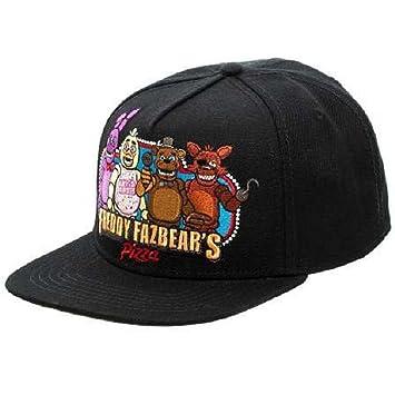 Amazon.com  BIOWORLD Black Freddy Fazbear s Pizza Snapback Baseball ... 5479d8bba3f