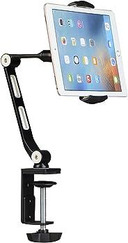Suptek Aluminum Tablet Desk Mount Stand 360 Flexible Cell Phone Holder