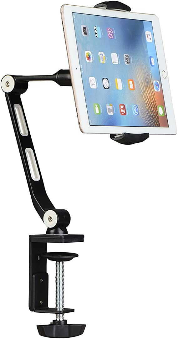 Aluminum Desk Mount Stand Holder For iPad 2 3 4 Mini Air Samsung iPhone X Tablet