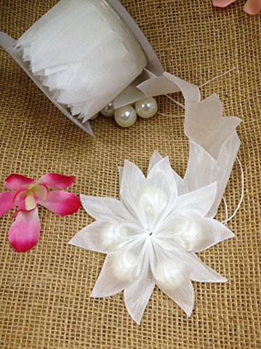 Ohah Craft White Star Shape Pull Bow Jordan Almonds Candy Bow Ribbon Decor Wedding Favor