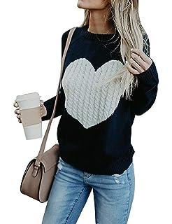 Voiks Mujer Sudaderas Básico Punto Suéter de Moda O-Cuello Otoño Invierno Oversize Jerseys Blusas