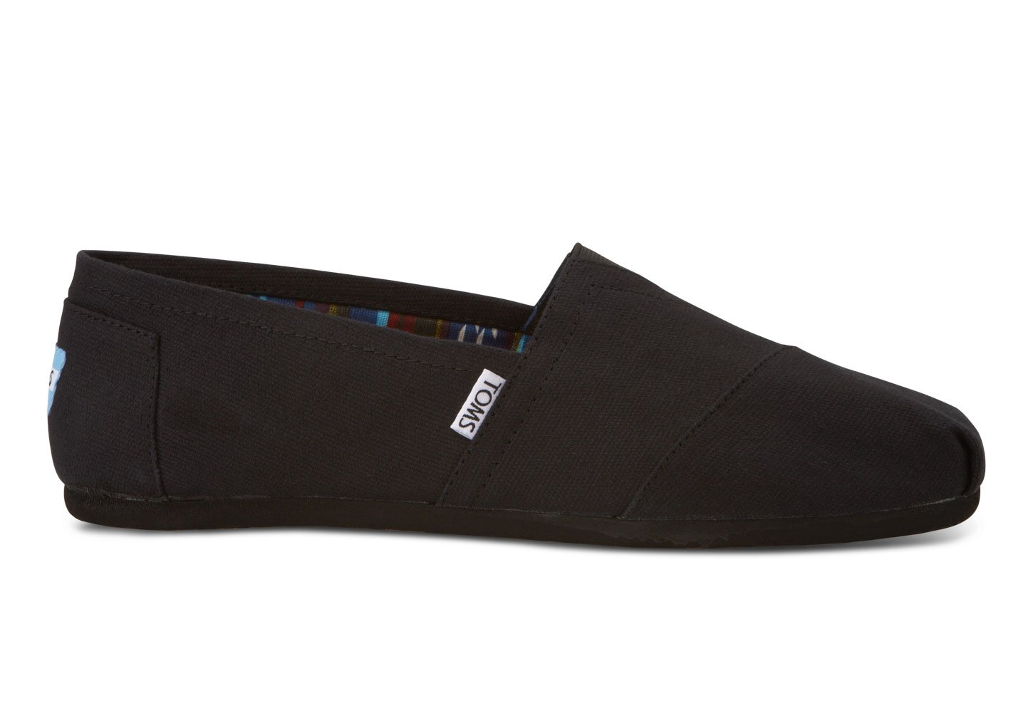 TOMS Men's Classic Canvas Slip-On, Black/Black – 12 D(M) US