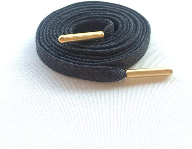 White Black Flat Waxed Shoelace Shoestring Leather Shoes Boots Wax Shoe Lace