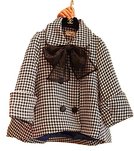 Angel&Lily Oversized coat HOUNDSTOOTH wool blend A line swing jacket plus size 2x