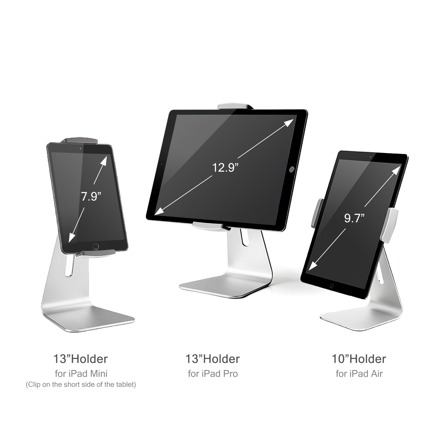 Viozon ipad Pro Stand, Tablet Stands 360° Rotatable Aluminum Alloy Desktop Mount Stand for Ipad Pro Ipad Air Ipad Mini Surface and Surface Pro by Viozon (Image #5)