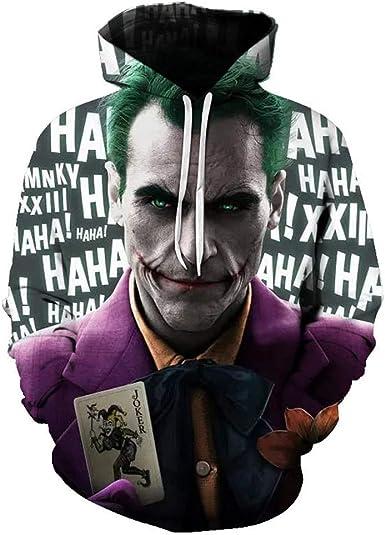 uDaShaA Sudadera con Capucha de Disfraz de Joker Unisex 2019 ...