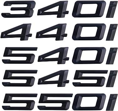 Black 340i 440i 540i 545i 550i Symbol Emblem Sticker Badges for Trunk Tailgate Bumper Decoration 340i