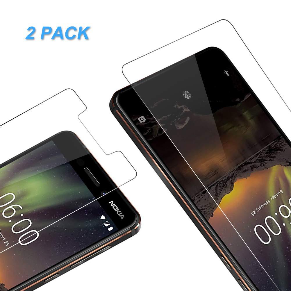 Vkaiy Nokia 8 Pellicola Protettiva in Vetro Temperato - [Durezza 9H] [Alta Trasparente] [Nessuna Bolla] [Anti-Impronte] [ Antigraffi], Facile da Installare, [2 Pezzi]