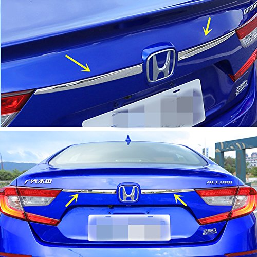 ZiWen New Chrome Stainless Steel Trunk Crossbar Lid Trim for Honda Accord Sedan 10th 2018