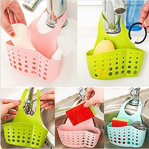 NPLE--Kitchen Sink Sponge Holder Bathroom Hanging Strainer Organizer Exquisite Rack