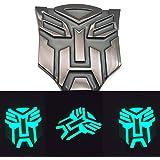 Kuang Hai Metal Car Styling Self-Luminous After Absorbing Light Transformers Autobot Emblem Badge Sticker Decal (Black)