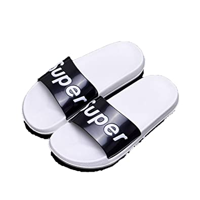 Slides Thick Soled Slippers Platform Sandals Shoes Zapatillas Mujer,White Super,9