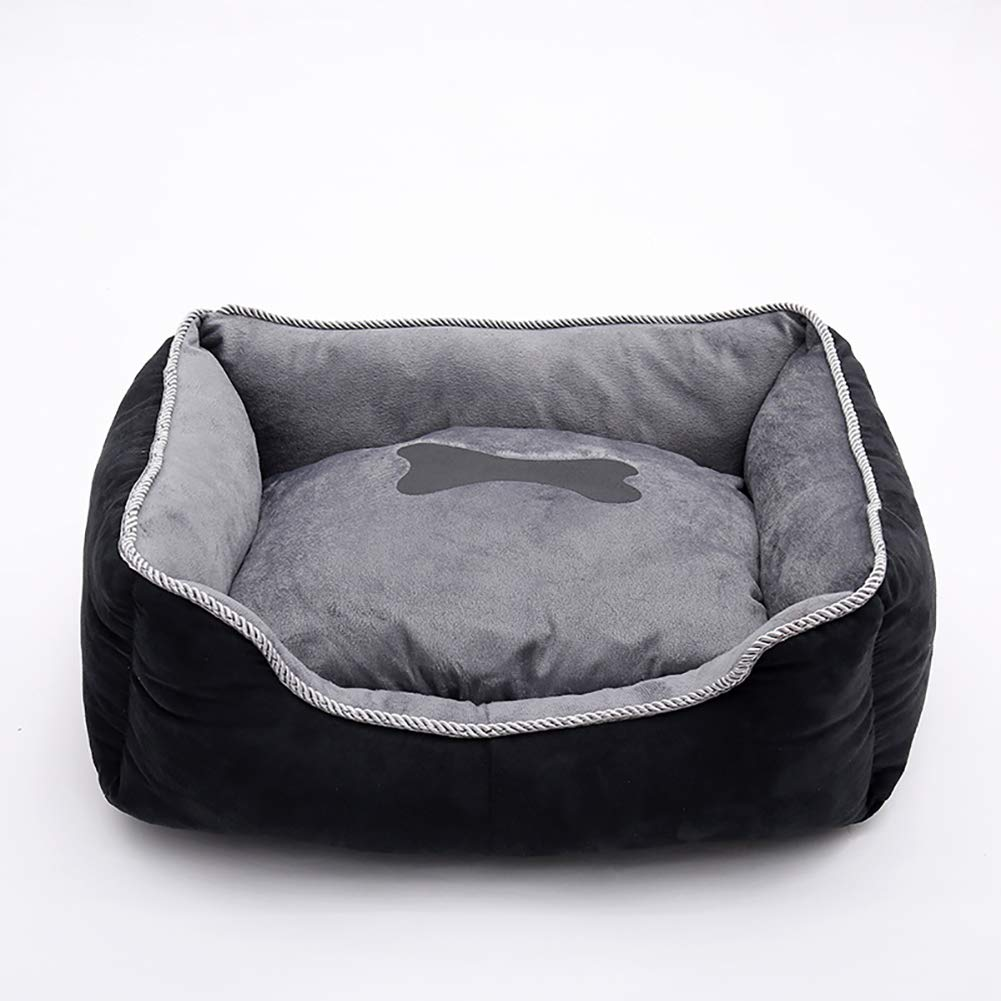 A 44×35×19cm A 44×35×19cm Dog Bed,Super Soft Pet Sofa Cats Bed,Pet Self Warming Beds Plush Rectangle Nest Puppy Sleeping Bag Cushion,Removable Washable Non-Slip Waterproof,A,44×35×19cm