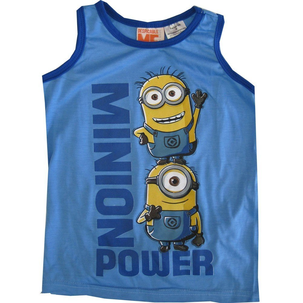 Minions Little Boys Blue Minion Power Chartacter Sleeveless Shirt 4-7 ABC Brands Inc.