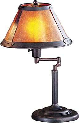 18 H Library Desk Lamp With An Antique Bronze Finish