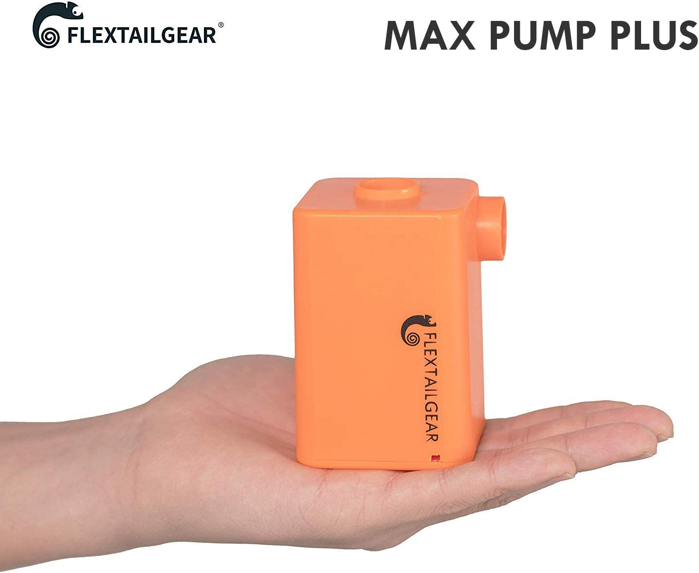 FLEXTAILGEAR - MAX Pump Plus Portable Air Pump with 3600mAh Battery USB Rechargeable Lightest Air Pump to Quick Inflate Deflate for Pool Floats Air Bed Air Mattress Swimming Ring (Orange): Home & Kitchen