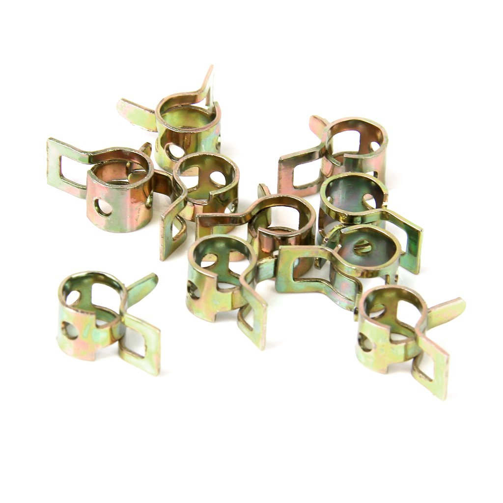 10 x Fuel Hose Spring Clips Water Pipe Air Tube Clamps Fastener---6mm
