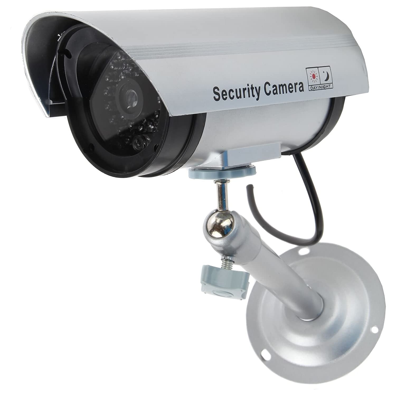 Trentonギフトダミーフェイク監視セキュリティCCTVドームカメラ屋内または屋外with LEDライト|警告セキュリティ警告ステッカーデカール B078SY9B16