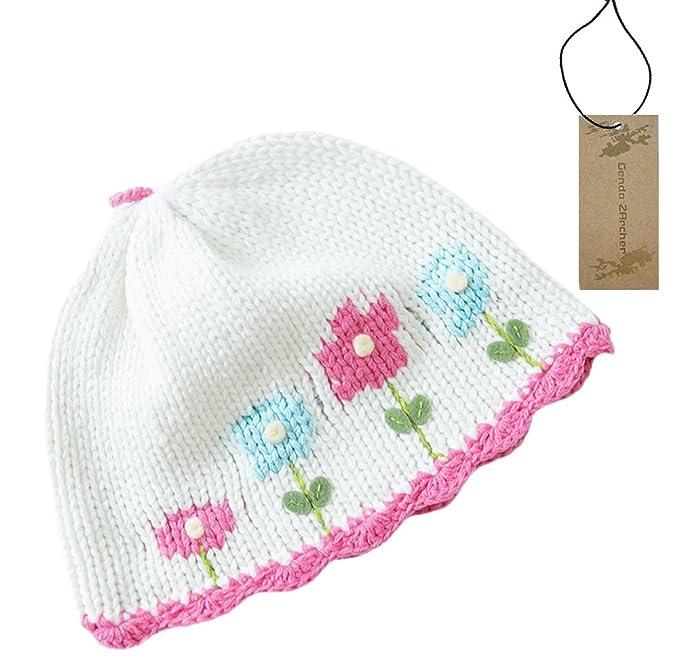 Genda 2Archer - Gorro bordado a mano, diseño de flores, para bebés y ...