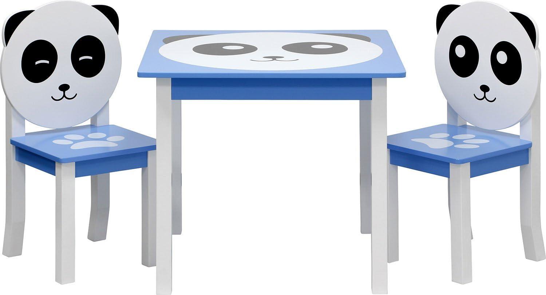 3 Combinazioni Set Composto da Tavolo per Bambini e 2 sedie IB-Style Set di mobili per Bambini Panda