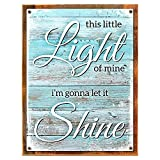 Framed, Outdoor This Little Light of Mine 18''x24'' Metal Sign, Rustic, Country, Inspirational, Hand-Crafted from reclaimed materials