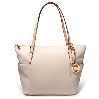 c6fbdf6c9b4e Amazon.com | Michael Kors Jet Set East West Top Zip Tote Vanilla | Shoes