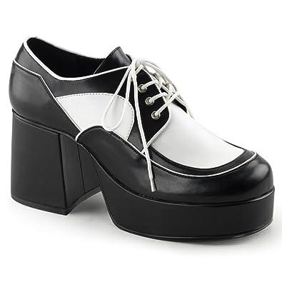 Funtasma JAZZ-04 mens Black-White Polyurethane Loafers Shoes Size - M