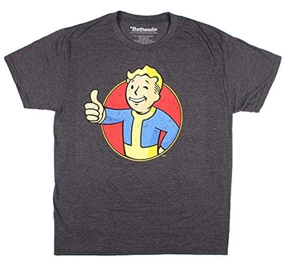 83e4138663 Amazon.com  Fallout Vault Boy Mens T-Shirt  Clothing