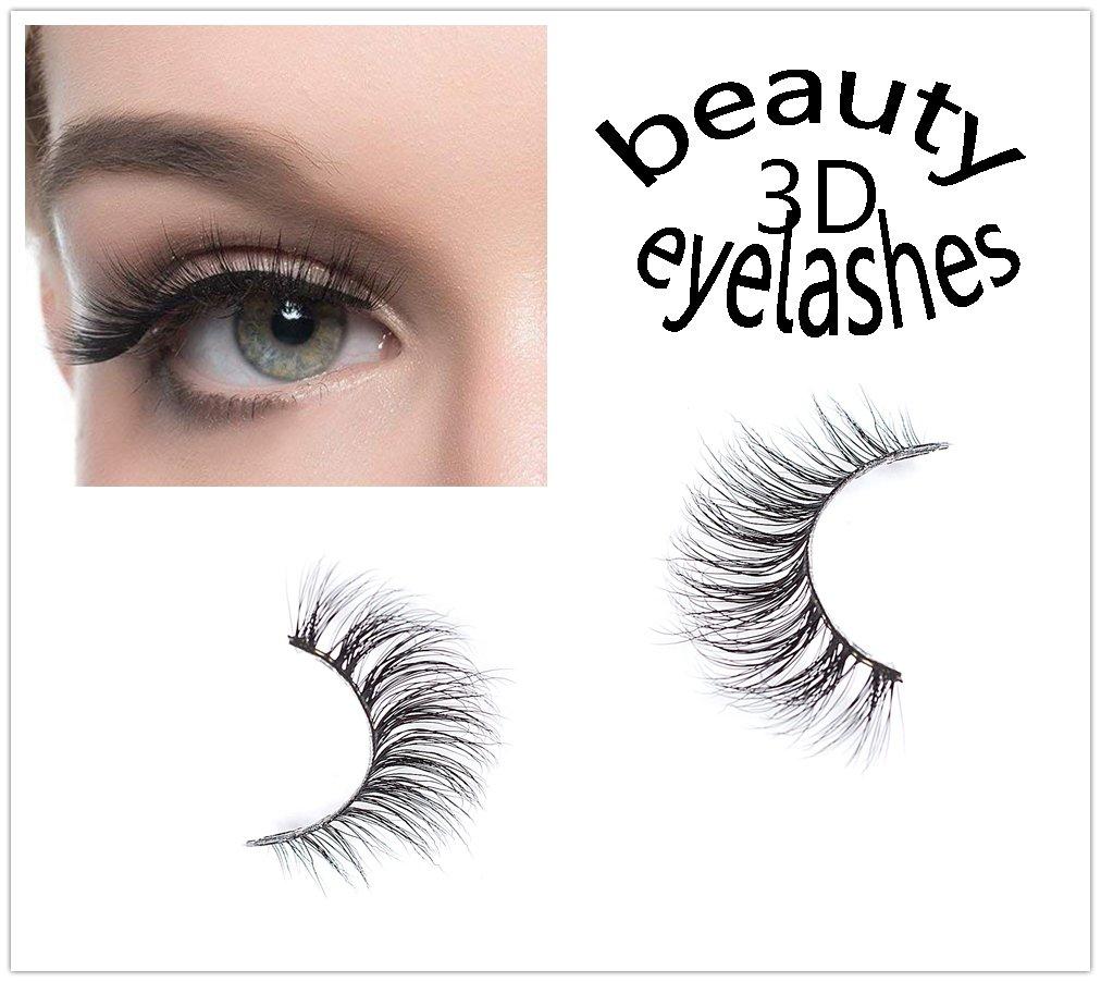 eb77d1a0fd5 Amazon.com : 3D Faux Mink Eyelashes Super Handmade False Lashes Natrual  Looking Fake Eyelashes Wispy Soft Reusable False Lashes Mink Eyelashes Make  UpA10 : ...