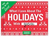 Knock Knock What I Love About Spending the Holidays with You Fill in the Love Journal