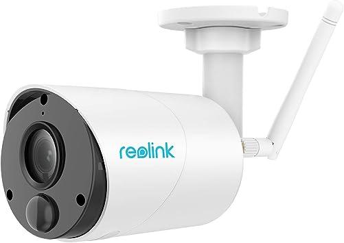 Reolink Argus Eco Cámara de Vigilancia IP 1080P HD Exterior Inalámbrico Batería Recargable, Energía Solar, Audio Bidireccional, Detección de ...