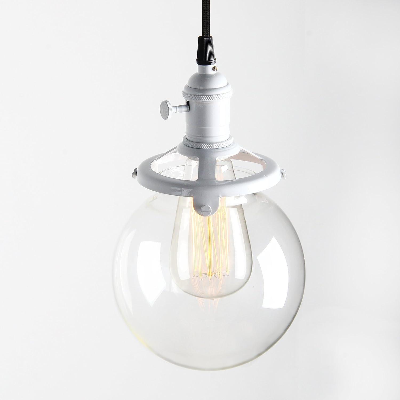 Pathson Antik Deko Design Design Design Klar Glas innen Pendelleuchte Hängeleuchte Vintage Industrie Loft-Pendelleuchte Hängelampen Hängeleuchte Pendelleuchten (Kupfer Farbe ) 3b879b