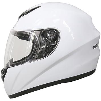 Leopard LEO-819 Cascos Integrales de Moto Motocicleta Bicicleta ECE 22-05 Aprobado Blanco