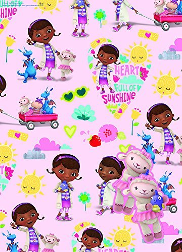 Doc McStuffins 2 Sheets Of Gift Wrap And 2 Gift Tags