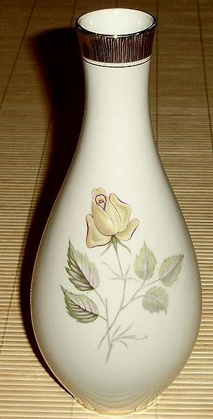 Amazon De Vase Porzellanvase Mit Rosenmuster 50er 60er Jahre