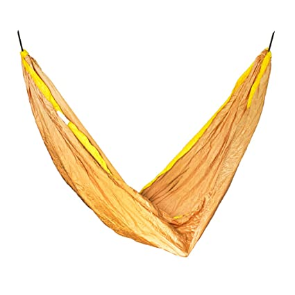 Slack Jack Camping Fabric Hammock (Yellow and Gold)