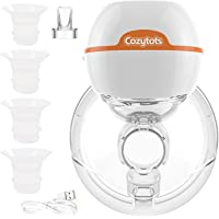Cozytots Hands-Free Wearable Breast Pumps Electric Portable Single Electronic Automatic Breastpump with High-Definition…